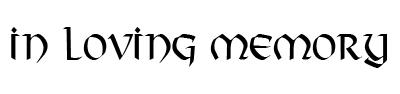 Memorial font example