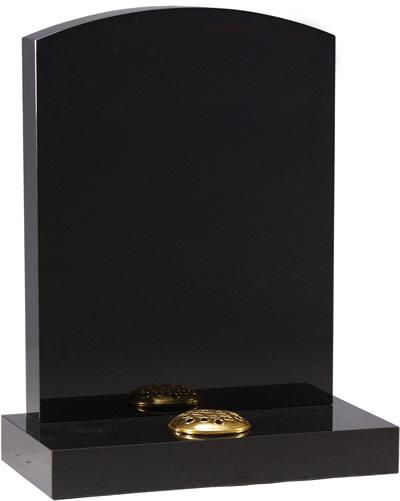 Oval top headstone