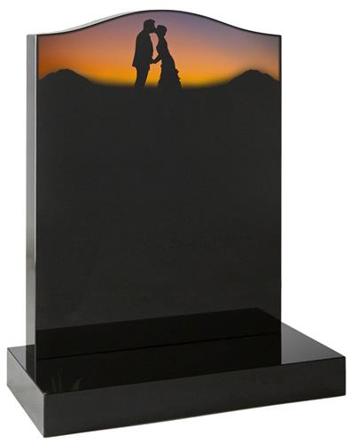 Silhouette Headstone