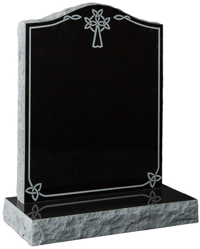 Pitched Headstone with Celtic Design
