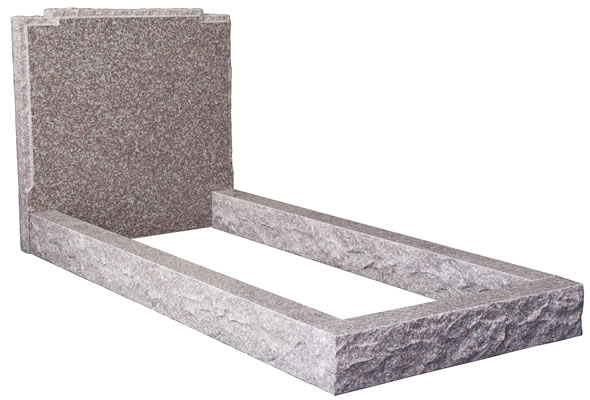 Pitched Headstone & Kerb Set