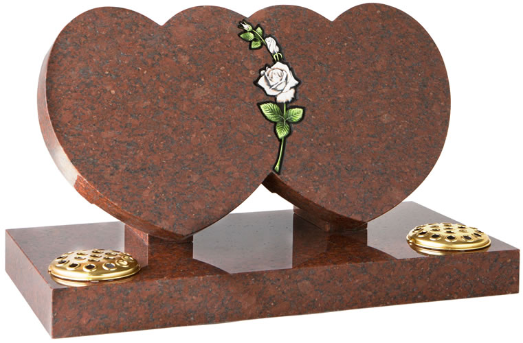Double Heart with CNC Rose