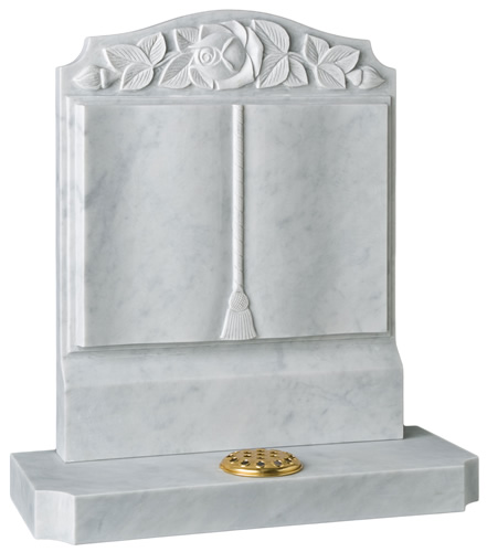 Marble Book Headstone