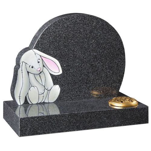 Painted Bunny Headstone