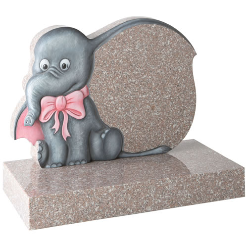 Cartoon Elephant Headstone
