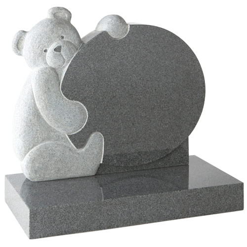 Circular Teddy Headstone